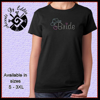 Rhinestone Cowgirl Bride T Shirt or Tank in Sizes S - 3XL perfect for Western Brides and Bridal Party Cowboy Wedding