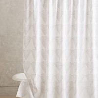 Berris Shower Curtain by Anthropologie Grey One Size Shower Curtains