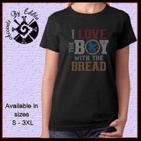 The Original Hunger Games Peeta Inspired Rhinestone T Shirt or Tank in sizes S - 3XL I Love the BOY with the Bread Perfect Gift for all Fans