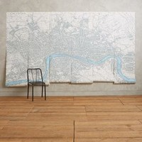 London Map Mural by Debbie Mckeegan Multi One Size Wall Decor