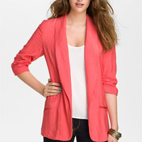 Necessary Objects Crinkle Blazer (Juniors) | Nordstrom