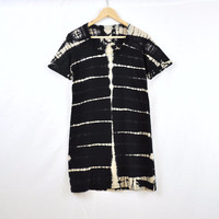Black and Tan Strata Dyed Tshirt Dress