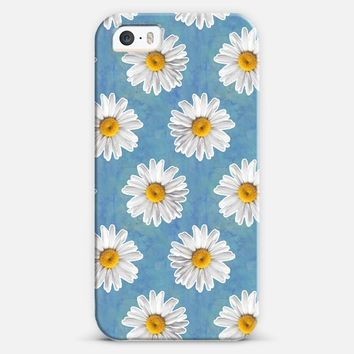 Daisies on Watercolor Blue iPhone 5s case by Tangerine- Tane | Casetify
