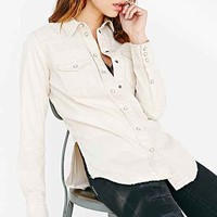 Pins And Needles Torn Slim Western Button-Down Shirt-