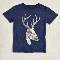 Poolhouse Crystal Antlers Tee- Navy