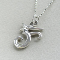 Sterling Om with silver ball chain