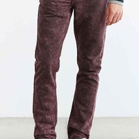 Native Youth Acid Wash Red Jean- Red
