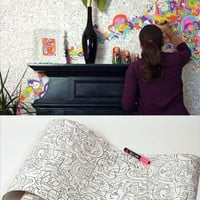 DesignShop UK - Living -  Jon Burgerman Colour In Wallpaper