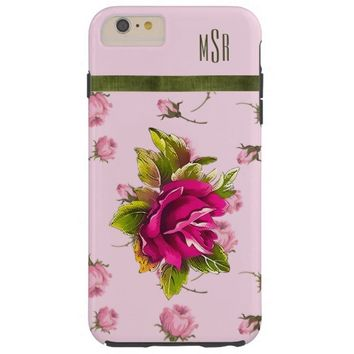 Vintage French Country Pink Rosebuds iPhone 6 Case