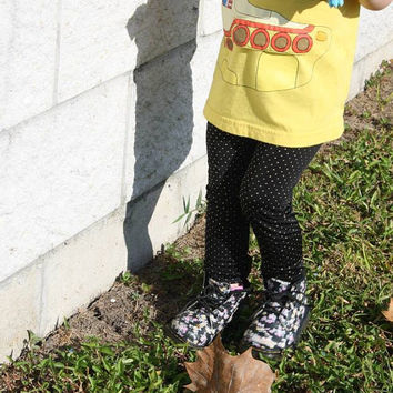 Black and Gold Studded Leggings- Baby/Toddler Sizes