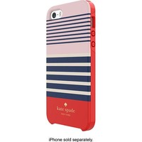 kate spade new york - Laventura Hybrid Hard Shell Case for Apple® iPhone® 5 and 5s - Red/Navy/Blush