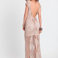 Penelope Crochet Maxi Dress By Tularosa