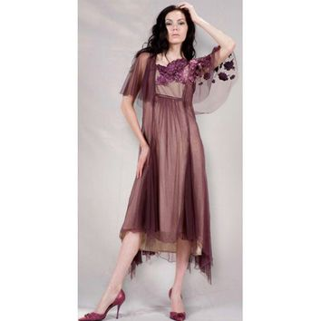 40115 Ruby/Beige Dress