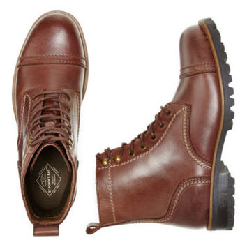 St. John's Bay® Clay Mens Leather Lace-Up Boots