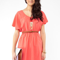 Pinkies Up Scalloped Dress $61