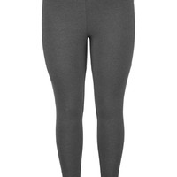 Charcoal ankle length plus size legging