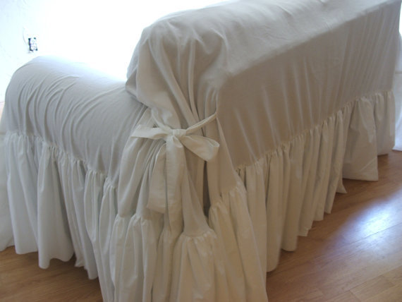 shabby chic sofa slipcover throw from mythymecreations on etsy. Black Bedroom Furniture Sets. Home Design Ideas
