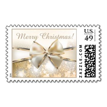 Christmas Stars Sparkle Satin