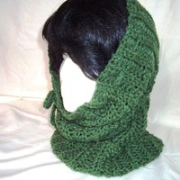 Crocheted Hat, Hoodie, or Cowl (3 in 1)
