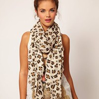 River Island Leopard Print Scarf at asos.com