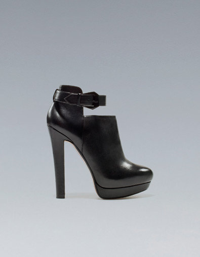WIDE HEEL ANKLE BOOT WITH ANKLE STRAP - Shoes - Woman - ZARA United States