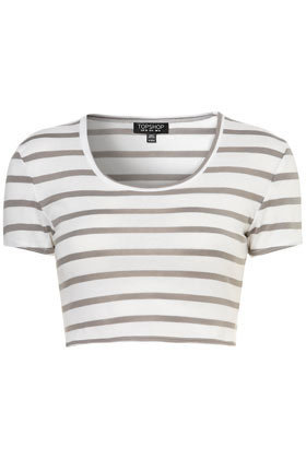 Stripe Crop Tee - Jersey Tops  - Apparel