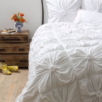 Rosette Bedding, White