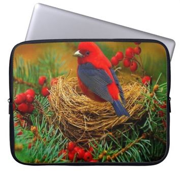 Bird in Nest Laptop Sleeve