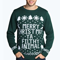Merry Xmas Ya Filthy Animal Jumper