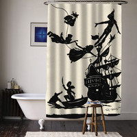 peter pan fly never ground up special custom shower curtains available size