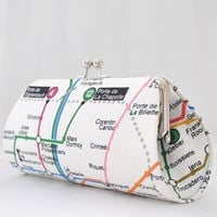 Metro de Paris -- Medium Clutch Purse