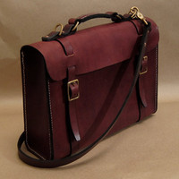 Model A Bag - Handstitched Leather Satchel / Briefcase / Laptop Bag