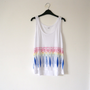 Rainbow tribal vest border