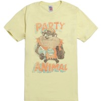 Junk Food Party Animal T-Shirt - Mens Tee - Yellow