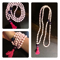 Pink &amp; Purpz 108-bead mala