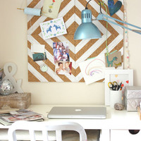 Belinda's Lovely DIY Home Office Corkboard