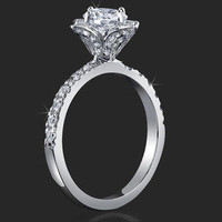 Engagement Rings - .75 ctw. 14K Gold Diamond Engagement Ring