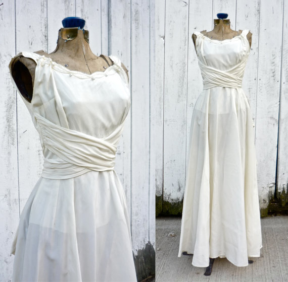 1940s wedding dress vintage 40s wedding from for Vintage 1940s wedding dresses