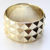 ON SALE: Pyramid chunky bracelet - Gold or Silver
