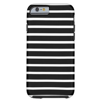Black and White Striped iPhone 6 Case