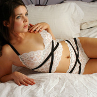 lingerie set - HARLEQUIN - includes camisole and knickers