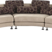 Fabric Curved Sectional Sofa - Opulentitems.com