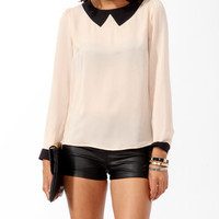 Stitched Collar Blouse