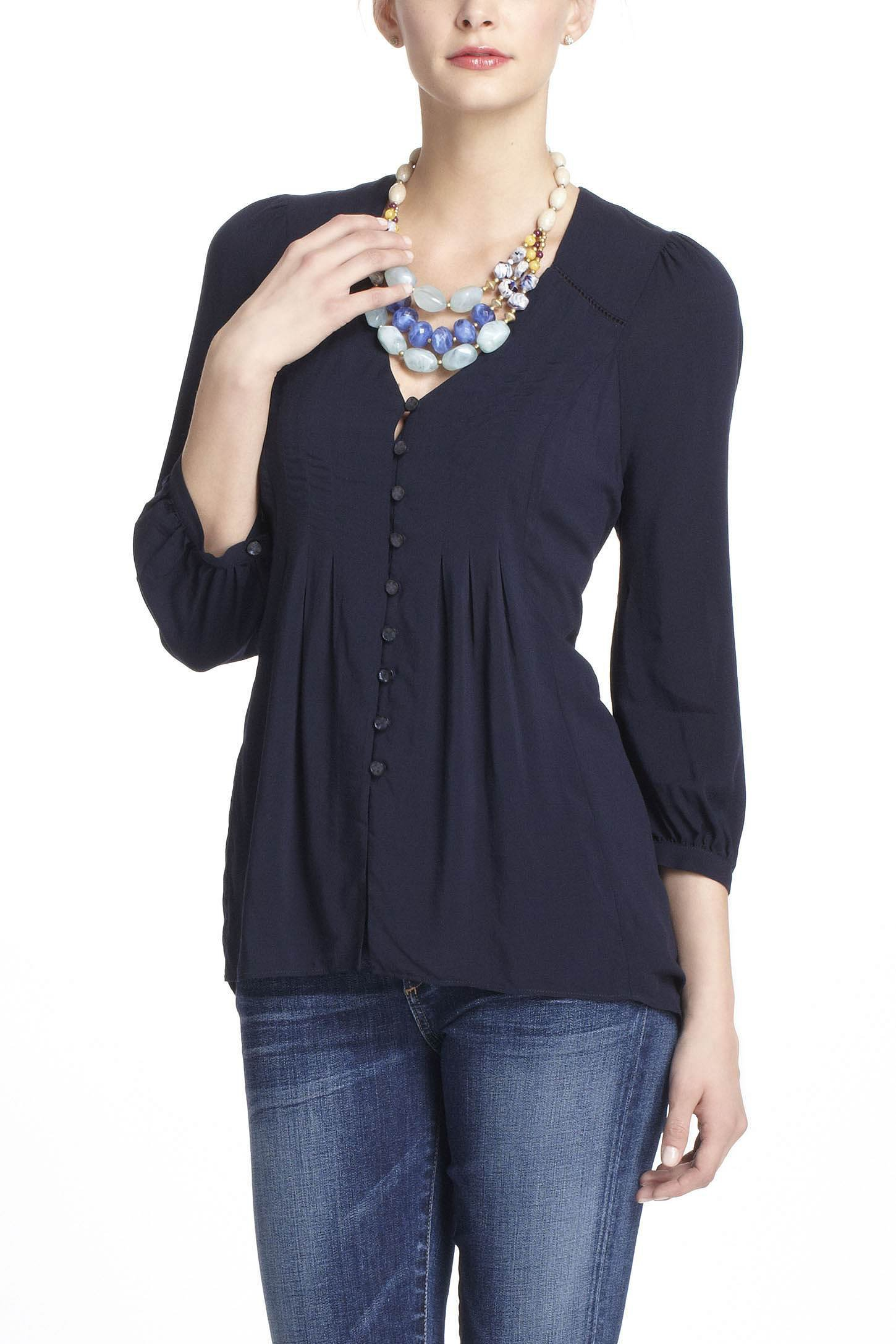Pin-Tucked Tunic