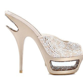 Chromatic Crystal Sandals Golden