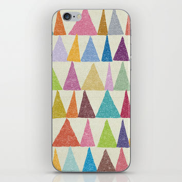 Analogous Shapes In Bloom. iPhone & iPod Skin by Nick Nelson