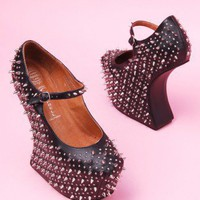 Jeffrey Campbell Prickly in Black Silver