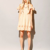 Peach eyelet dress [Sal1044] - $119 : Pixie Market, Fashion-Super-Market