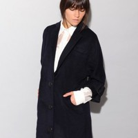 Navy cocoon coat [Jov4966] - $109 : Pixie Market, Fashion-Super-Market