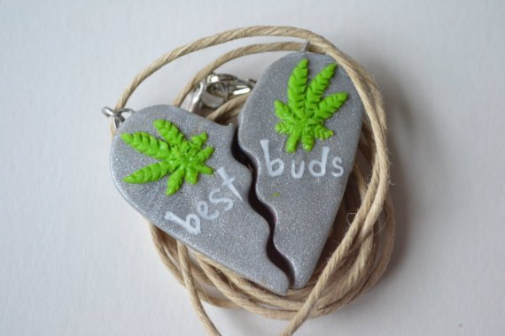 Silver Haze Best Buds Marijuana Necklace
